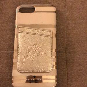iPhone 7plus Kate Spade case with accessory